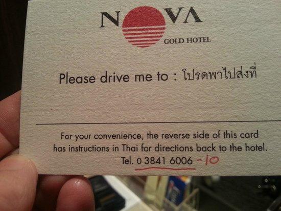 Nova Gold Hotel: card