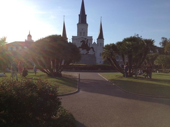 Place d'Armes Hotel: St. Louis Cathedral from the center park. This is literally steps from the inn!