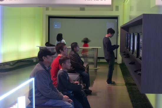 Microsoft Visitor Center: One of the game areas