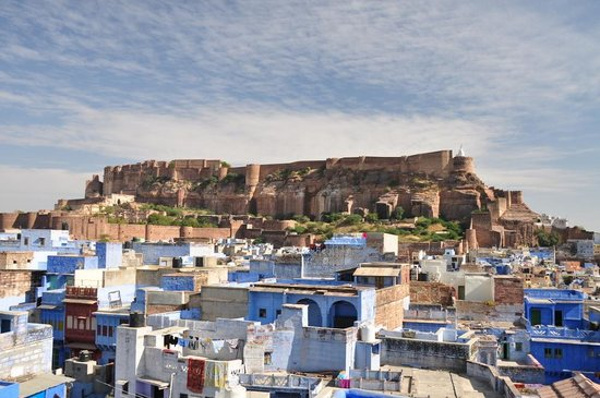 Govind Hotel: The fort rising above the blue city