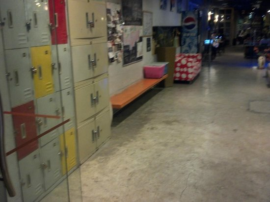 Shenzhen LOFT Youth Hostel : How your goods will be safely kept (at the entrance where everyone pases)