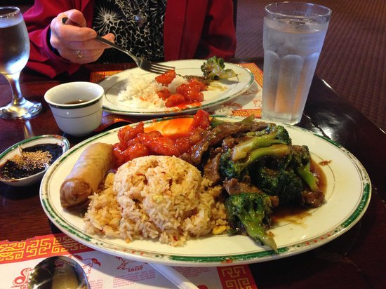 Great Wall Chinese Restaurant: One HUGE Combination Plate Meal