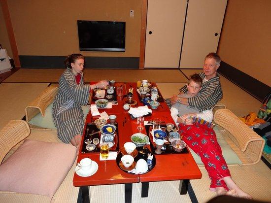 Gion Hatanaka: Japanese breakfast in our room