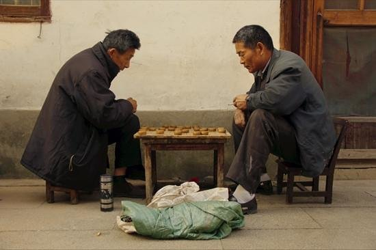 Zhouzhuang Water Town: chinese chess