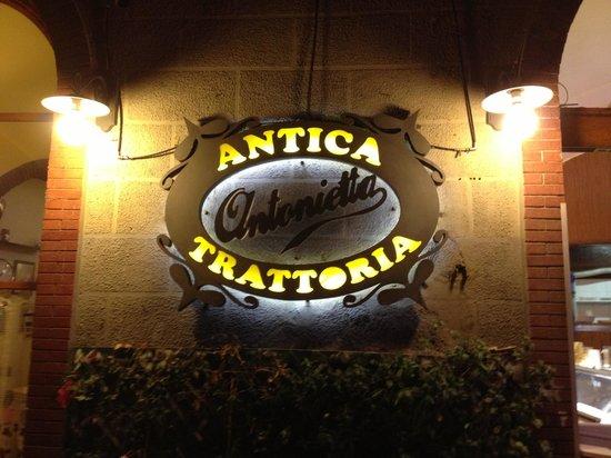 Antica Trattoria Antonietta: Sign