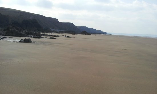 Sandymouth Holiday Park: Sandymouth beach at low tide..