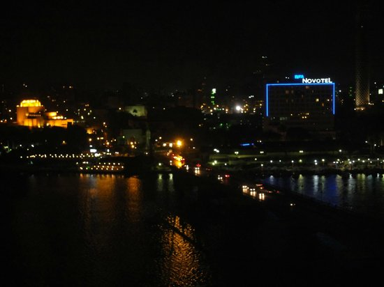 InterContinental Cairo Semiramis: Room view over the Nile, Cairo Tower and Cairo Opera House