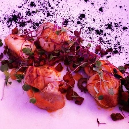 Verveine Fishmarket Restaurant: scallops with ash