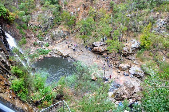 McKenzies Falls: View from the top of the falls …