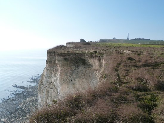 View towards Blue Bird Tea Rooms from the cliffs
