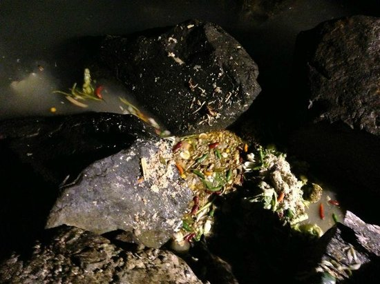 Layang Layang Island Resort: kitchen dumping waste in the ocean