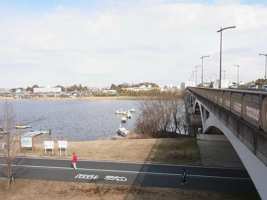 Michi-no-Eki Shonan: サイクリング(ウィオーキング、ランニング)ロードと手賀沼大橋