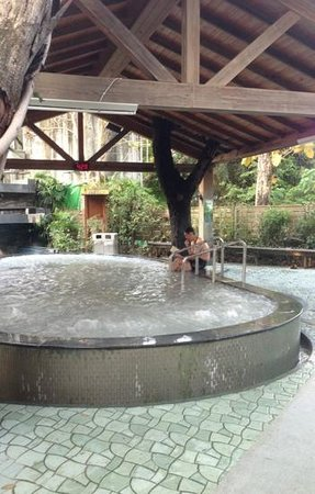 Toong Mao Spa Resort Guanziling : one of the outdoor hotspring pool