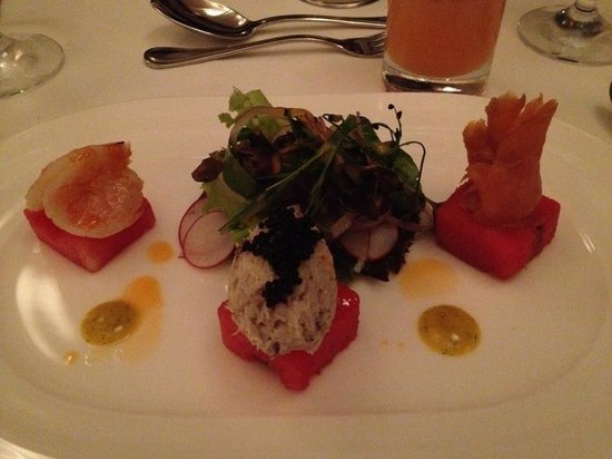 The Terrace Restaurant : Assiette of fresh seafood