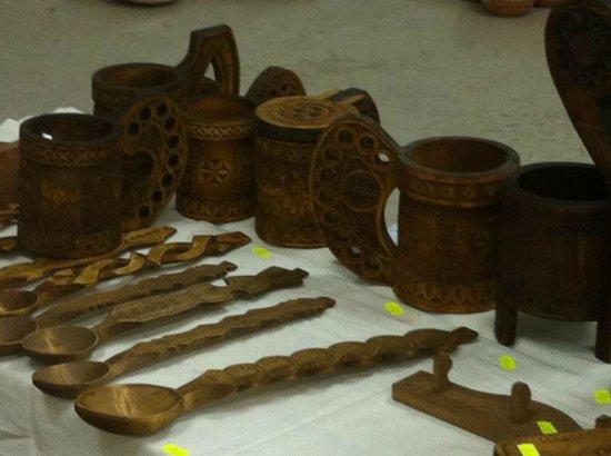 Peasant Museum (Muzeul Taranului Roman): Hand-made wooden spoons