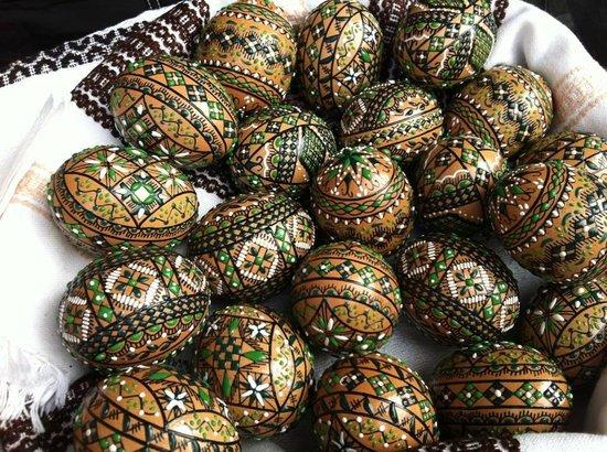 Peasant Museum (Muzeul Taranului Roman): Hand-painted Easter eggs