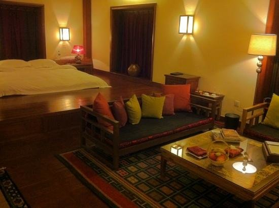 โรงแรมซองซัมแชงกรีลา: traditional style Tibetan room