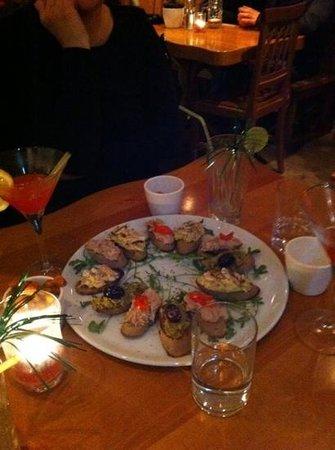Hansel & Gretel: Aperol,Cosmopolitan & Bar Snacks Tuna,Olive,Aubergine