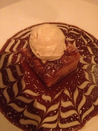 The Fig Tree: Pear and apple cake with butterscotch sauce. Delicious