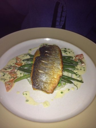 The Fig Tree: Sea bass on risotto