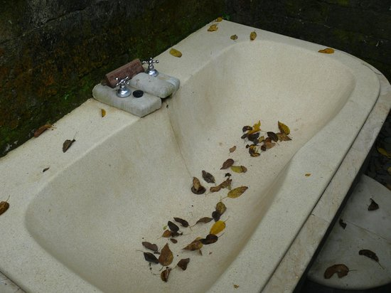 Natura Resort and Spa: Outdoor bathtub not really inviting