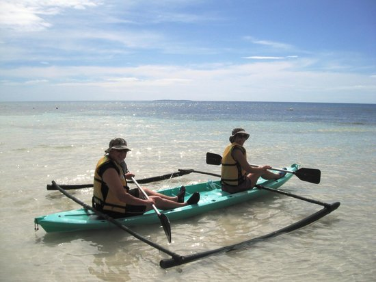 Amarela Resort: Getting ready to kayak