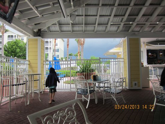 Marriott's Harbour Lake: massive storm coming in. March 2013 - dining area - run