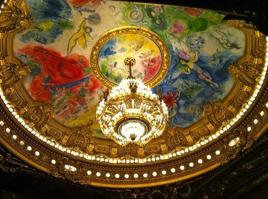 Palais Garnier - Opera National de Paris: Chagall's ceiling, over the orchestra