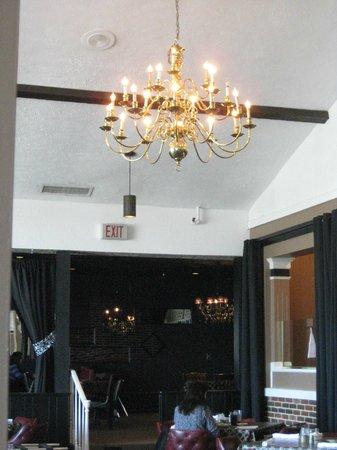 Beautiful lighting in one of  Nick's diningrooms.
