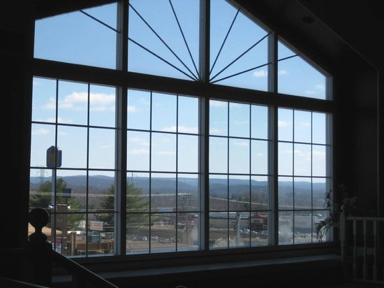 Nick's: Large picture window with Cumberland Mountain view.