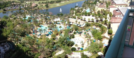 JW Marriott Orlando, Grande Lakes: 17th Floor panaroma iPhone5 balcony view