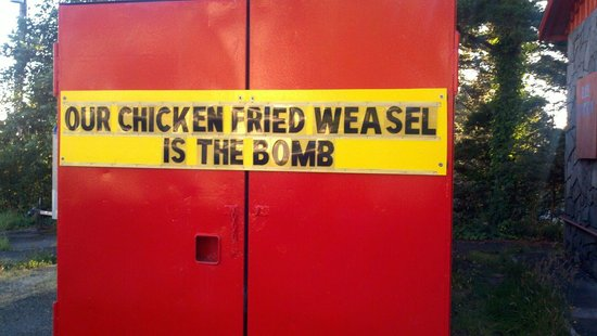 Bonepile BBQ: Chicken fried weasel