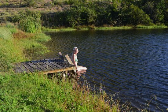 The Retreat at Groenfontein: swimming at the dam