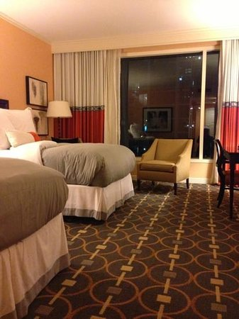 InterContinental Buckhead Atlanta: double beds. desk, tv with lots of premium cable, marble bathroom not shown