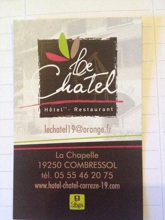 Hotel Restaurant Le Chatel: coordonnées Le Chatel