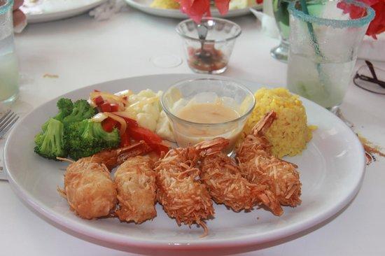 Tequilaville: The coconut shrimp - delicous!