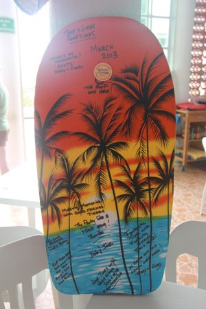 Tequilaville: Our signed boogie board