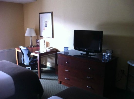 DoubleTree by Hilton Hotel Syracuse: TV and Desk