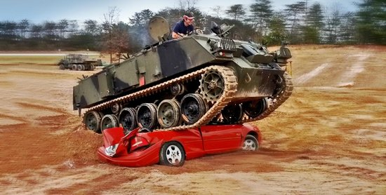 Morganton, GA: Drive Tanks...Crush Cars!