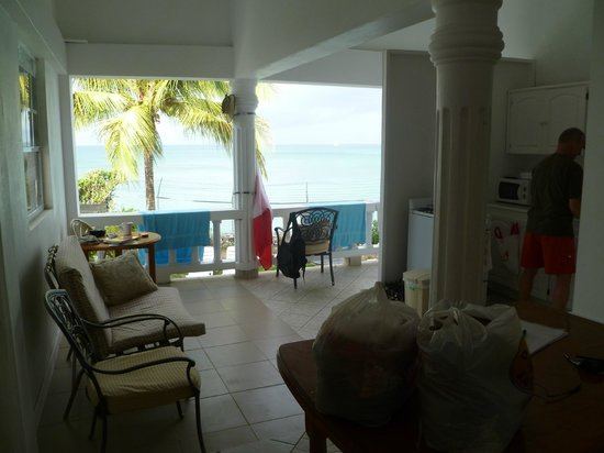 Grand Anse Beach Palace Hotel : View from our bedroom door