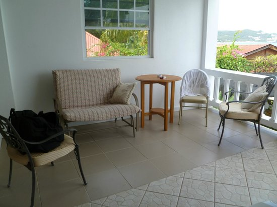 Grand Anse Beach Palace Hotel: Our balcony/sitting area