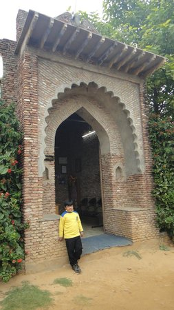 Jhajjar, Hindistan: Village gate at Pratap Garh Farms