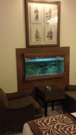 โรงแรมฮารี พิออร์โก: Fish! Hari has fish in the room!