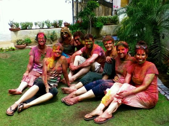 All Seasons Homestay Jaipur: Homestay Guests during Holi