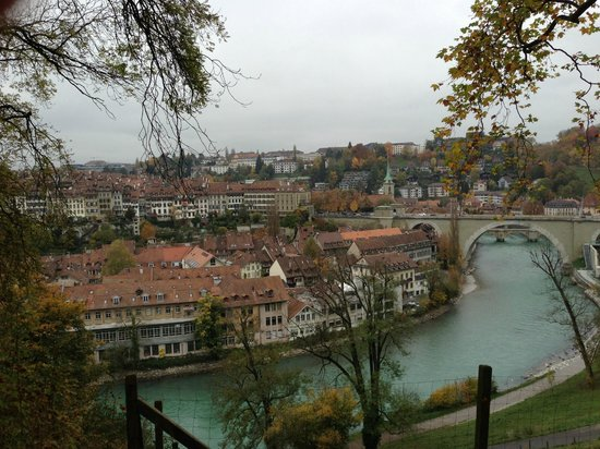 Hotel Allegro Bern: view of the Old City and the bridge