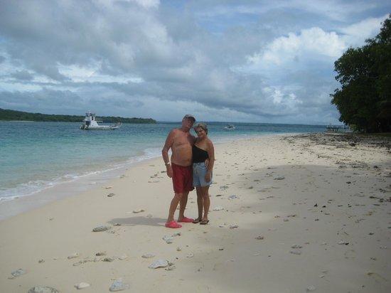 Espiritu Santo, Vanuatu: That us on the beach