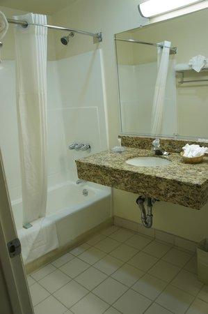Travelodge Santa Monica: お風呂は普通ですが、お湯につかってリラックスするのには十分