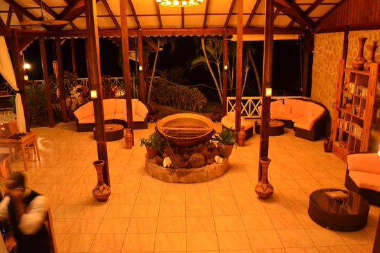 Ti Kaye Resort & Spa: main area at night