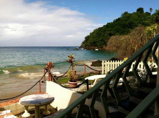 Naturalist Beach Resort: Ocean edge , mini picnic area
