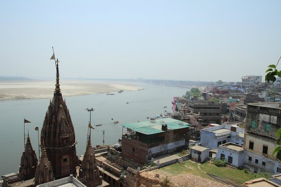Mishra Guest House : View from the rooftop restaurant at day